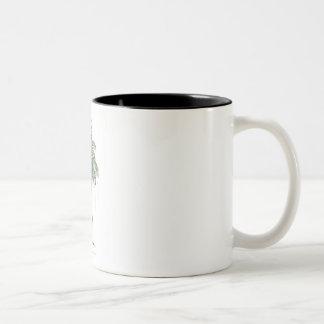 ヤシの木のイラストレーションのコレクション ツートーンマグカップ