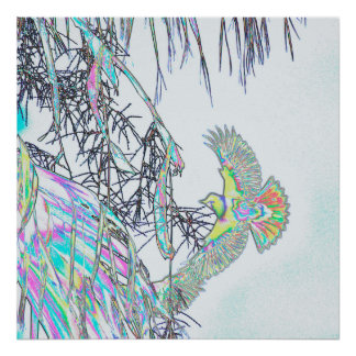 ヤシの木のオリオールズは抽出します ポスター