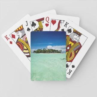 ヤシの木のトランプのポーカーのデッキが付いている太平洋諸島 トランプ