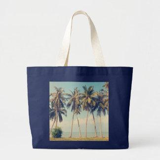 ヤシの木のビーチの休暇のバッグ ラージトートバッグ