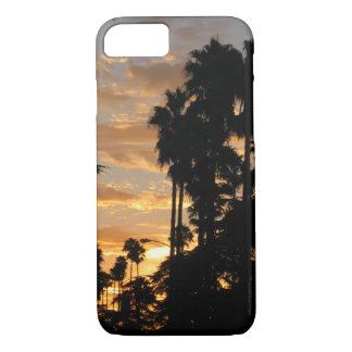 ヤシの木のロサンゼルスの日没のiPhoneの場合 iPhone 8/7ケース