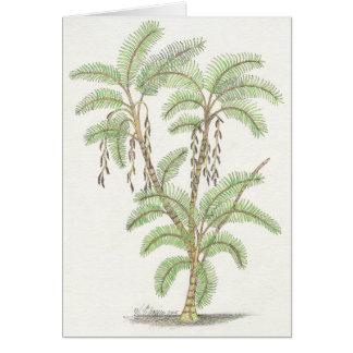 ヤシの木の平静Notecard カード