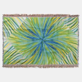 ヤシの木の抽象芸術の水彩画 スローブランケット