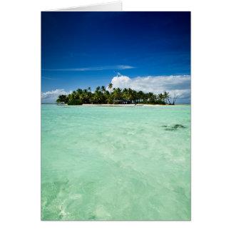 ヤシの木の挨拶状が付いている太平洋諸島 カード
