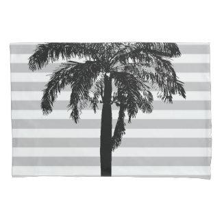 ヤシの木の灰色のストライプのな熱帯エキゾチックなデザイナー 枕カバー