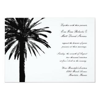 ヤシの木の結婚式招待状|の熱帯招待 12.7 X 17.8 インビテーションカード