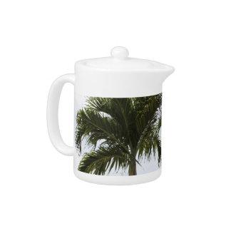 ヤシの木の茶ポット