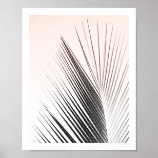 ヤシの木の葉ポスター|ピンク8x10 ポスター