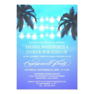 ヤシの木は婚約パーティの招待状をつけます カード