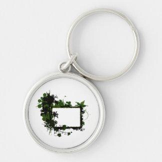 ヤシの木フレームの緑およびblack.png キーホルダー