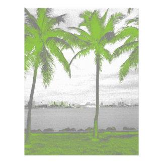 ヤシの木マイアミ、フロリダの緑 レターヘッド