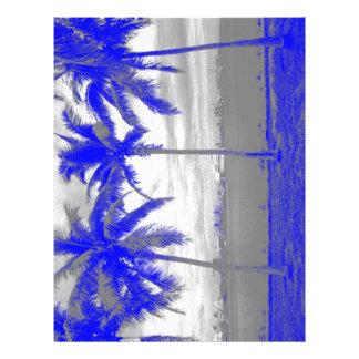 ヤシの木マイアミ、フロリダの青 レターヘッド
