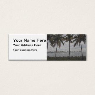 ヤシの木マイアミ、フロリダ スキニー名刺