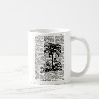 ヤシの木辞書の芸術 コーヒーマグカップ