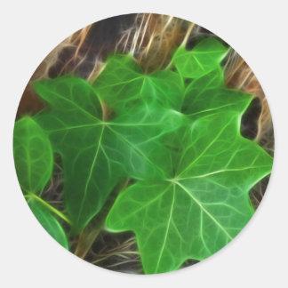 ヤシの木4のキヅタのつる植物 ラウンドシール