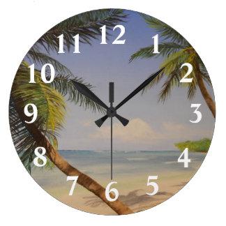 ヤシの木 ラージ壁時計