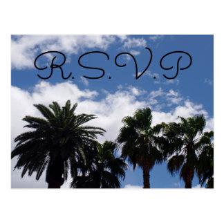 ヤシの木RSVP ポストカード