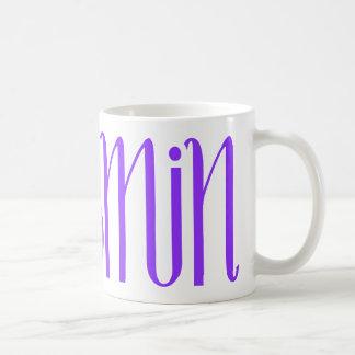 ヤズミンの紫色のマグ コーヒーマグカップ