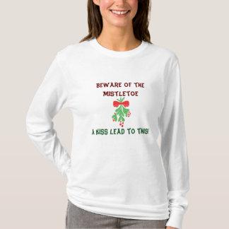ヤドリギのユーモアT-SHIRTBのBOARD-BEWAREのベビー Tシャツ