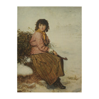 ヤドリギの採集1894年 ウッドウォールアート