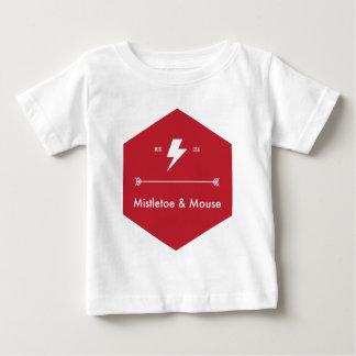 ヤドリギ及びマウスの衣服 ベビーTシャツ