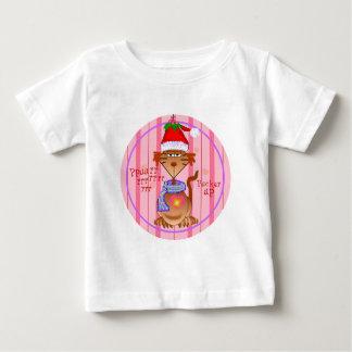 ヤドリギ猫 ベビーTシャツ