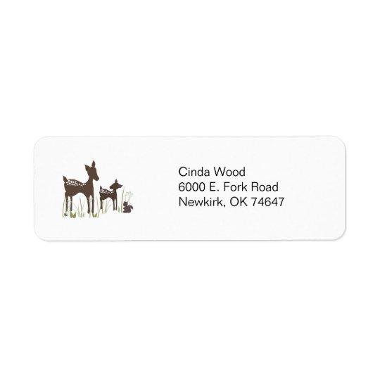 ヤナギのシカの森林宛名ラベル 返信用宛名ラベル