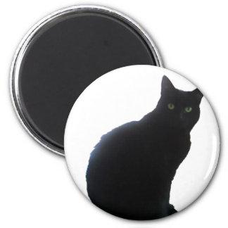 ヤナギ黒猫 マグネット