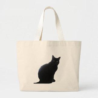 ヤナギ黒猫 ラージトートバッグ