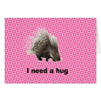 ヤマアラシの抱擁バレンタインカード カード