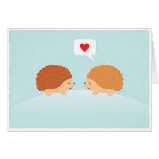 ヤマアラシ愛バレンタインのカード カード