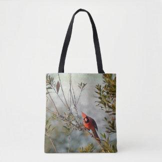 ヤマモモのトートバックの北の(鳥)ショウジョウコウカンチョウ トートバッグ