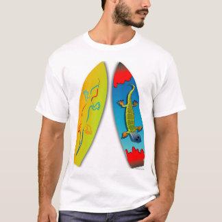 ヤモリに乗って下さい Tシャツ