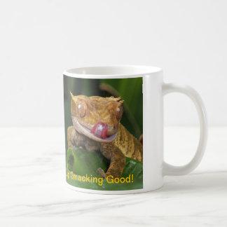 ヤモリのコーヒー・マグを舐めるおもしろいな唇 コーヒーマグカップ
