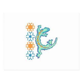 ヤモリのデザイン ポストカード