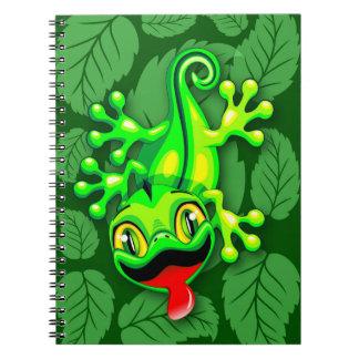 ヤモリのトカゲのベビーの漫画 ノートブック