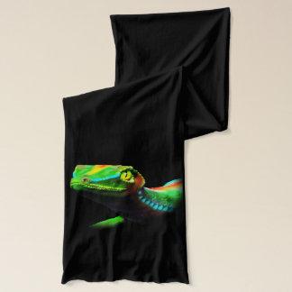 ヤモリのトカゲの虹はスカーフを着色します スカーフ