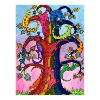 ヤモリの生命の樹 ポストカード