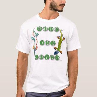 ヤモリ2に乗って下さい Tシャツ
