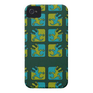 ヤモリ/トカゲのブラックベリーのはっきりしたな箱 Case-Mate iPhone 4 ケース
