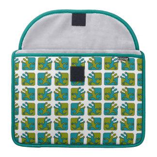 ヤモリ/トカゲパターンMacbookの袖 MacBook Proスリーブ