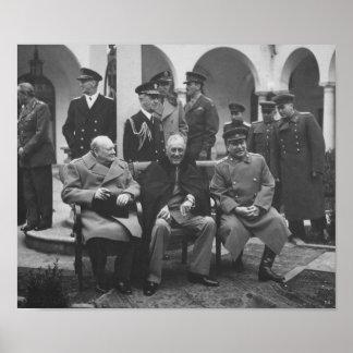 ヤルタの会議の間の大きい3 -- 第2次世界大戦 ポスター