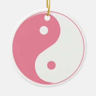 ヤンのかわいいピンクのイン及びオーナメント セラミックオーナメント