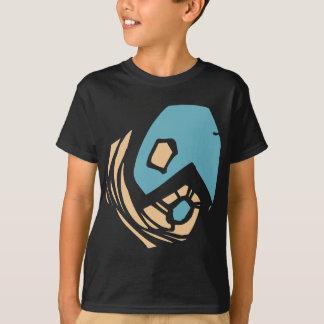 ヤンの記号の黒のTシャツ Tシャツ