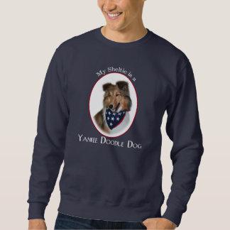 ヤンキーの落書きのシェットランド・シープドッグのワイシャツ スウェットシャツ