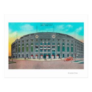 ヤンキー・スタジアムの眺めへの正面玄関 ポストカード