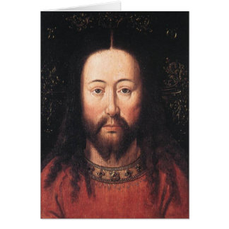 ヤン・ファン・エイク著イエス・キリストのポートレート カード