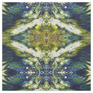 ヤードBohoの青及び緑の生地の陰 ファブリック