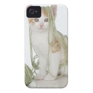 ヤーンで覆われる子ネコ Case-Mate iPhone 4 ケース