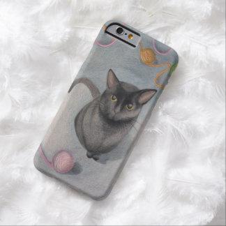 ヤーンの絵のiPhone6ケースの猫 Barely There iPhone 6 ケース